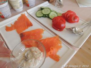 impressie van het vis ontbijt